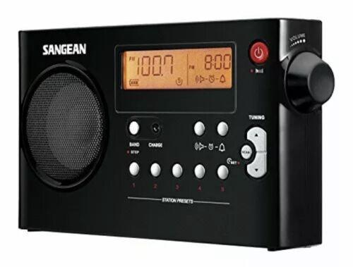 Sangean PR-D7 BK AM/FM Digital Rechargeable Portable Radio - Black - $61.00