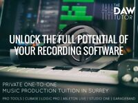 One-to-one music production lessons - Pro Tools, Cubase, Logic, Studio One, Ableton and GarageBand