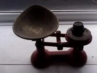 Vintage Red Scales and Weights for Sale