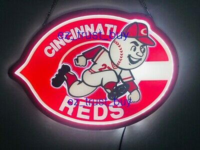 New Cincinnati Reds Light Lamp Decor Beer Bar LED 3D Neon Sign 20""
