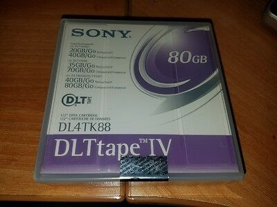 "Sony DL4TK88 1/2"" Data Cartridges DLT Tape IV 80GB"