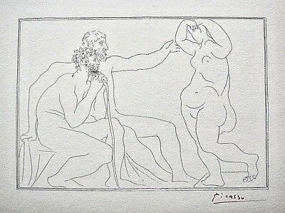 PABLO PICASSO HAND SIGNED SIGNATURE * SUITE VOLLARD * LITHOGRAPH W/ C.O.A.