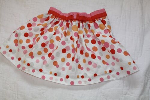 EUC Janie and Jack Size 18-24 mos Patisserie Shop Pink Polka Dot Confetti Skirt
