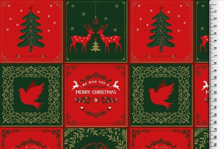 Weihnachts Stoffe Jersey & Baumwolle & Sweat / 28 Motive Meterware Weihnachten Baumwolle Weihnachten rot/grün