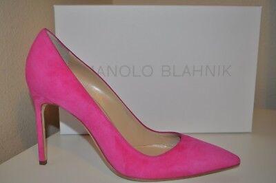 NEW Manolo Blahnik BB 105 PINK Suede Pointy Top Pump Heel Shoes 40.5 - 9.5