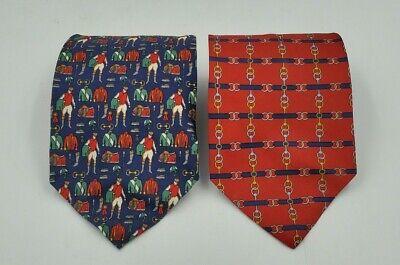 Vintage Paolo Gucci Wide Silk Horsebit Tie Equestrian Polo Ties.