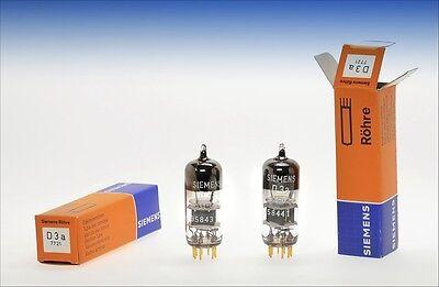 Pair Siemens D3a 7721 premium gold pin audio tube -  driver for AD1 2A3 300B ...