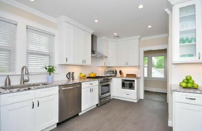 Ice White Shaker Cabinets - All Wood RTA Kitchen Cabinets 10x10 FREE SHIPPING