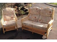 Small sofa and chair - lovely suite for a conservatory or summer house