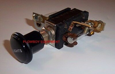 New Light Switch For Oliver Tractor 60 70 H7345a Cut Out - 6 Volt