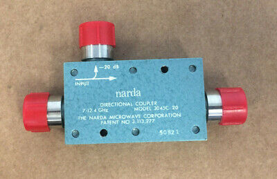 Narda 3045c-20 Directional Coupler Frequency 7-12.4 Ghz