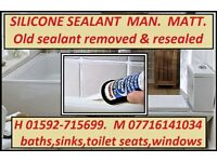 Silicone sealant replacement service.