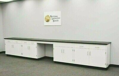 17 Laboratory Cabinet Group W Bench Black Tops Science Furniture E2-149