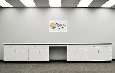 17 Fisher Base Laboratory Furniture Cabinets Case Work - E1-066