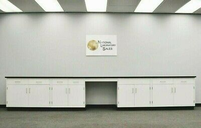 17 Laboratory Base Cabinets W Desk Black Tops Science Furniture E2-149