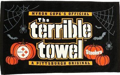 Pittsburgh Steelers Halloween Glow In The Dark Terrible Towel *NEWwith Tags - Pittsburgh Steelers Halloween
