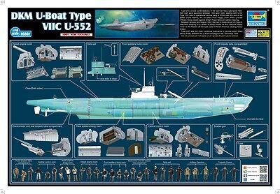 Trumpeter 56801 - DKM U-Boot U-552 Type VIIC