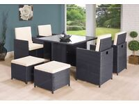 **FREE UK DELIVERY** 9-Piece Rattan Garden Conservatory Furniture - OVER 50% OFF!