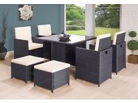 **FREE UK DELIVERY** 9-Piece Rattan Garden Conservatory Furniture - 50% OFF!