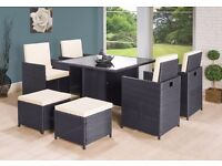 **FREE 1-3 DAY DELIVERY** 9 Piece Rattan Garden Conservatory Furniture Set - BRAND NEW!