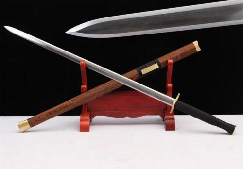 Hand Forge KungFu Battle Jian Sword Katana Sharp 1095 High Carbon Steel Blade