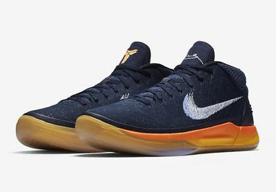Nike Kobe AD A.D. Mid Rise Obsidian White Mega Blue Orange Size 11 922482 (Nike Kobe Ad Obsidian White Mega Blue)