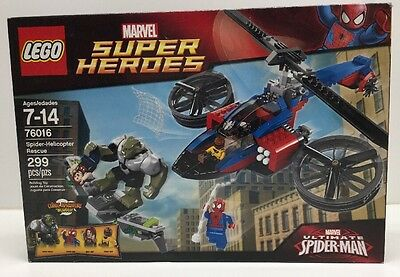 New LEGO Marvel Super Heroes 76016 Spider - Helicopter Rescue Factory Sealed NIB
