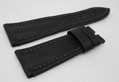 New Blancpain Black Sailcloth Leather Strap 23mm OEM Genuine