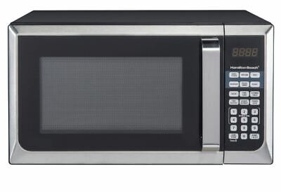 Countertop Microwave Oven Stainless Steel New Best Small 0.9 cu.ft. Silver