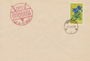 Poland postmark BYTOM - days 1967 (red !!) - Bystra Slaska, Polska - Poland postmark BYTOM - days 1967 (red !!) - Bystra Slaska, Polska