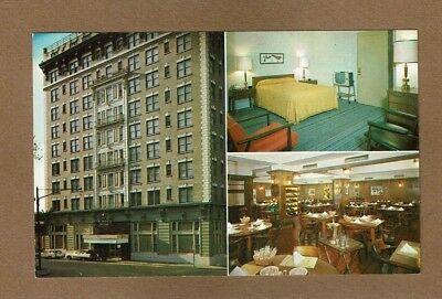 Richmond VA Virginia, Mark Raleigh Hotel, split views,exterior,& 2 Interior,