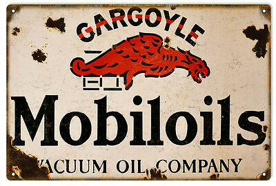 Reproduction Gargoyle Mobil oils  Gas Station Service Sign Garage Art