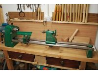 Record Coronet, three speed, wood-turning lathe in great working order.