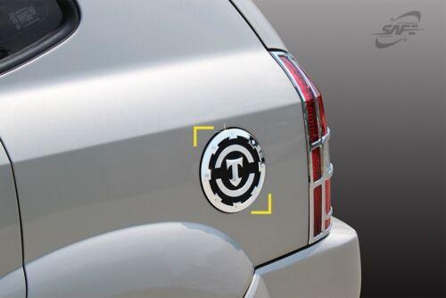 For Hyundai Tucson 2004 - 2010 Chrome Fuel Door Cover Trim