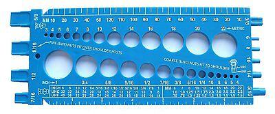 Fastener Screw Bolt Nut Thread Measure Gauge Size Checker Standard & Metric