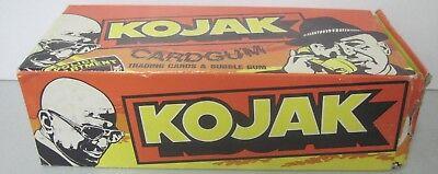 KOJAK TRADING CARDS & BUBBLE GUM EMPTY BOX TELLY SAVALAS