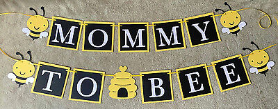 Mommy to Bee banner. Yellow Bees. Great for baby - Mommy To Bee