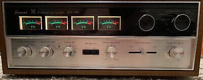 Sansui QS-500 Vintage Quad 4CH Synthesizer Decoder Rear Amplifier (E)