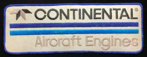 CONTINENTAL AIRCRAFT ENGINES LARGE 4 x 11 PATCH FOR JACKET / COVERALLS
