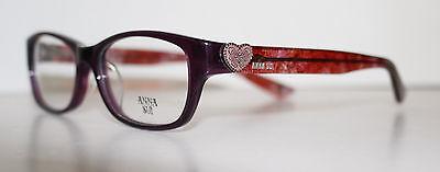 ANNA SUI AS535 718 PURPLE New Designer Optical Eyeglass Frame For Women