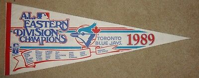 Toronto Blue Jays 1989 AL East Champ Licensed Official Vintage Roster Pennant