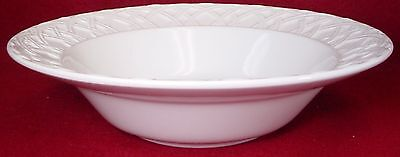 (PIER 1 china BASKET RELIEF pattern ROUND VEGETABLE Serving BOWL 10-3/8