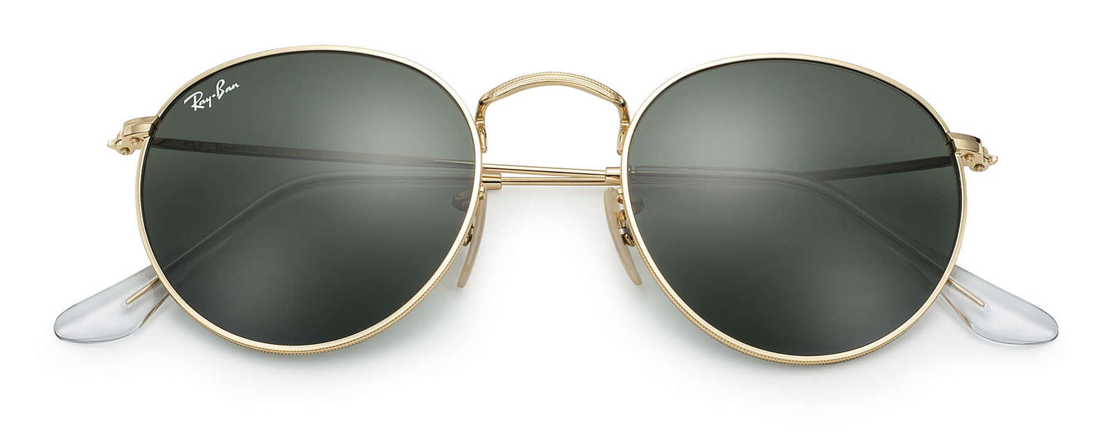 efe9c67bdc5 Ray-Ban 50mm Round Metal Gold Framed Sunglasses - Green ...