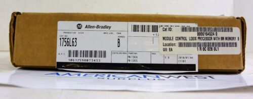 1756l63 Allen Bradley Controllogix Processor Ser B New In Box