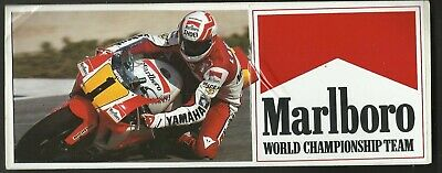 Moto YAMAHA Marlboro team world championship ancien sticker autocollant