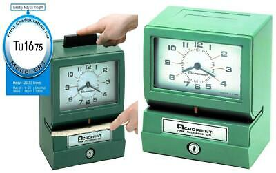 Acroprint 125er3 Heavy Duty Manual Time Recorder For Model - 125er3 Green