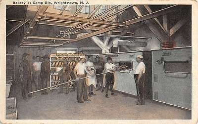 Wrightstown New Jersey Camp Dix Bakery Interior Antique Postcard K34500