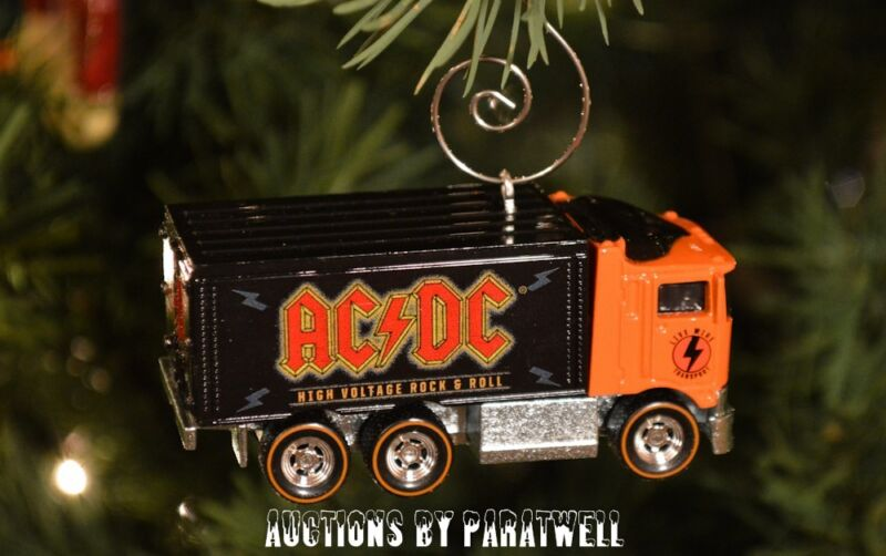 AC/DC Rock & Roll Truck Live Wire 1/64 Custom Christmas Ornament Highway to Hell