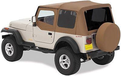 1988-1995 Jeep Wrangler Replacement Soft Top w/ Upper Door & Tinted Window Spice