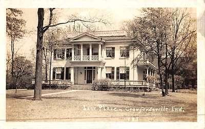 Crawfordsville Indiana Lane Place Real Photo Antique Postcard K46200